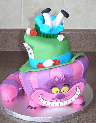 decorations Alice in wonderland cake