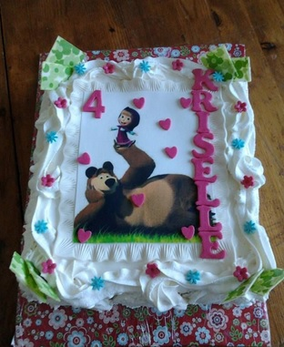 masha and the bear cake design