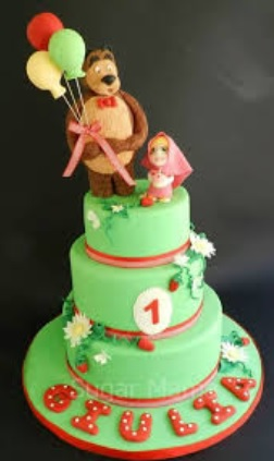 masha and the bear layer cake