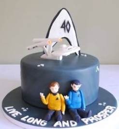 star trek ship cake ideas
