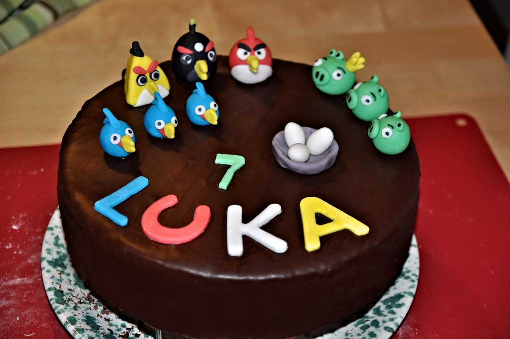 Angry Bird Cake Images