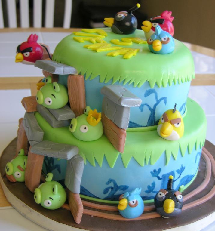 Angry Bird Cake Photo