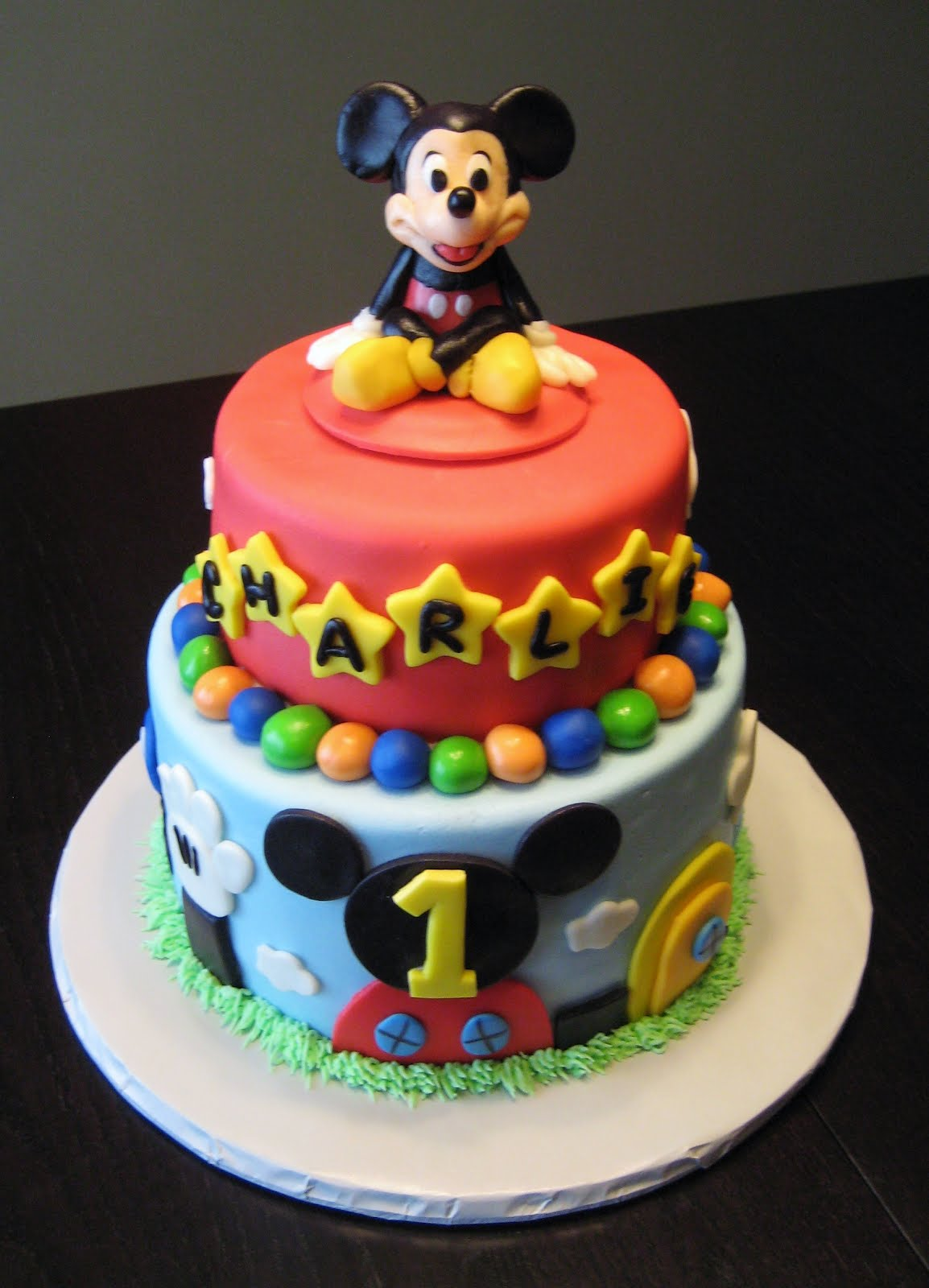 Groovy Mickey Mouse Cake Decoration Ideas Little Birthday Cakes Funny Birthday Cards Online Fluifree Goldxyz