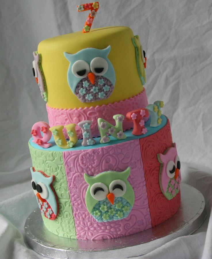 Baby Owl Cakes