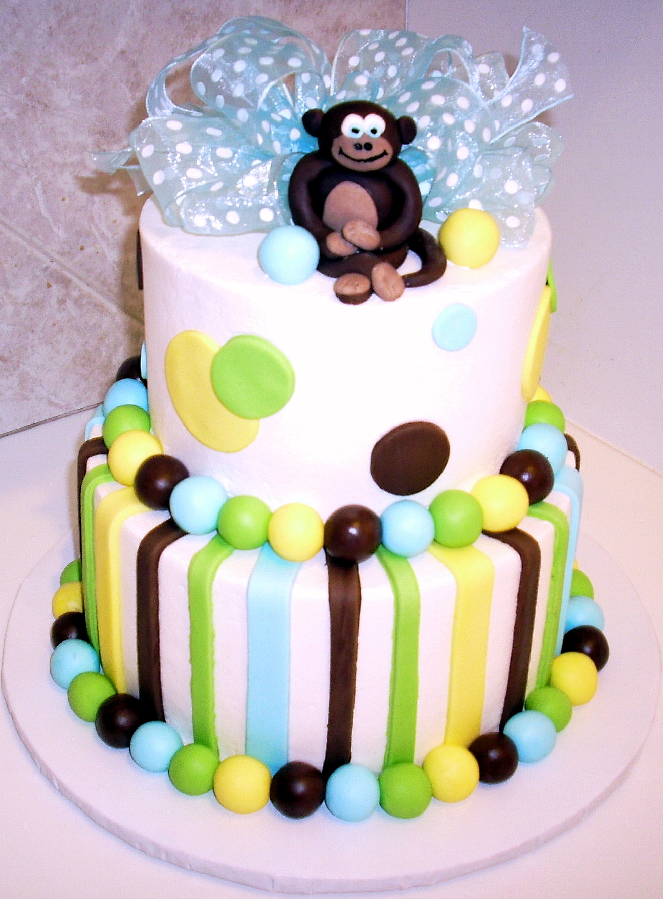 Admirable Monkey Cakes Decoration Ideas Little Birthday Cakes Personalised Birthday Cards Veneteletsinfo