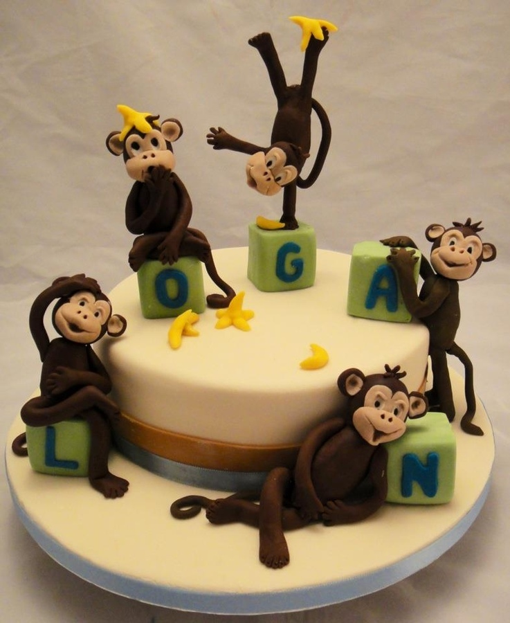 Baby Shower Monkey Cakes