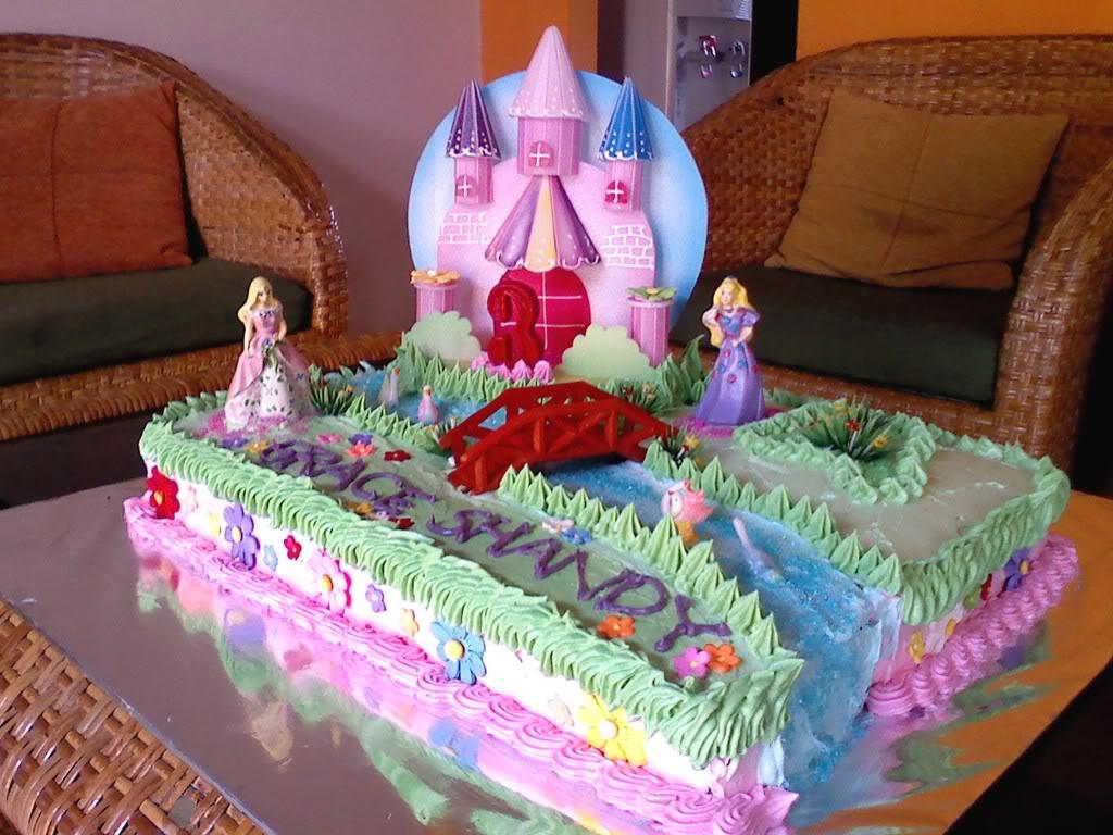 Barbie Castle Cake
