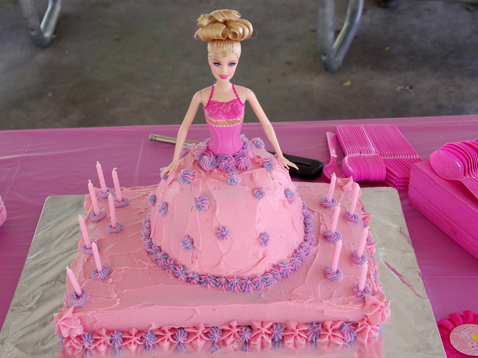 Brilliant Barbie Cakes Decoration Ideas Little Birthday Cakes Birthday Cards Printable Opercafe Filternl
