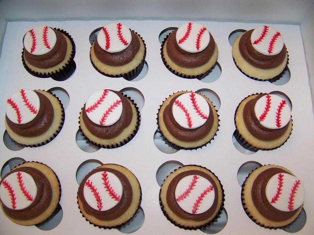 Baseball Cupcake Cakes