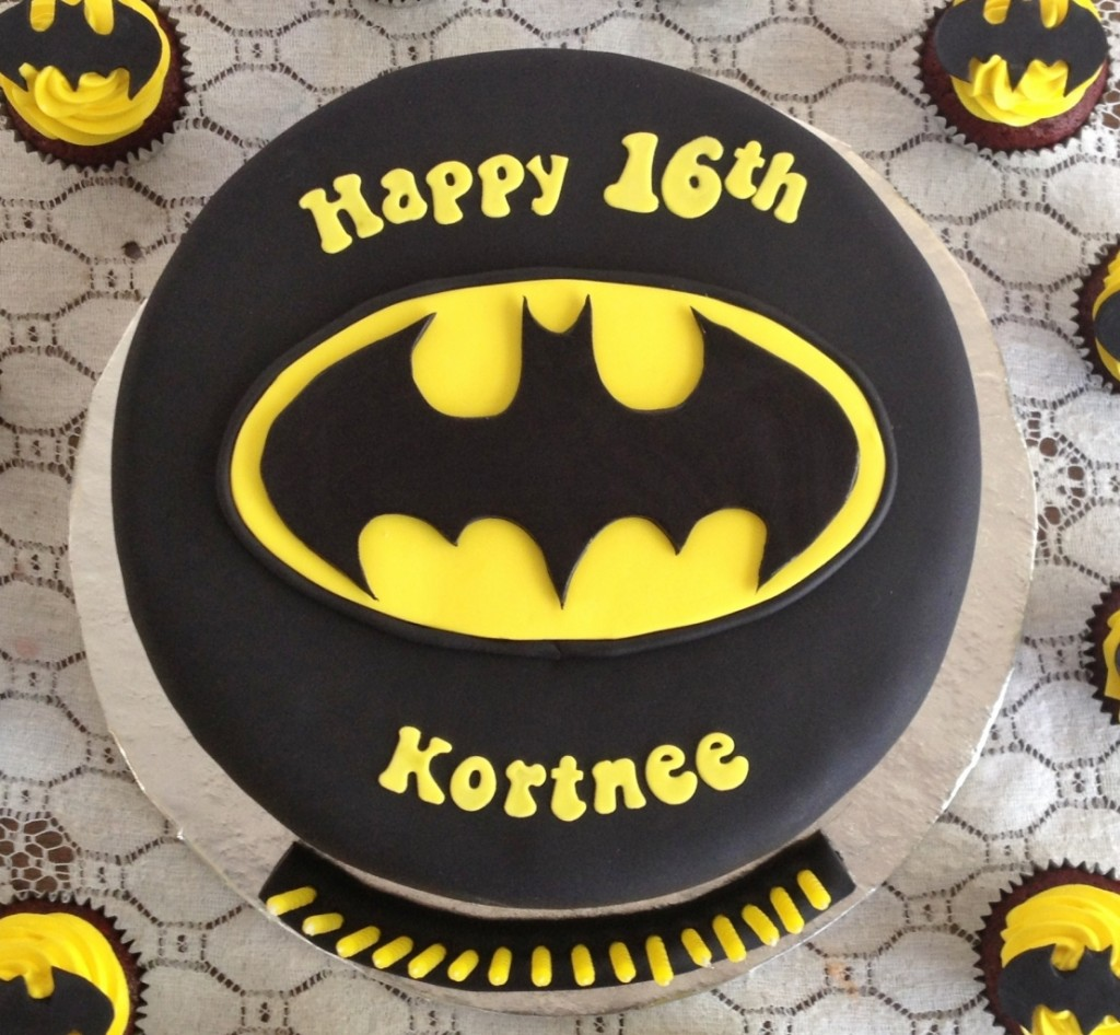 Batman Bats Birthday Cake
