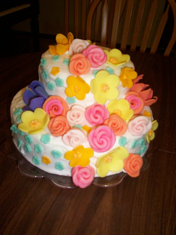 Birthday Cake Made of Flowers