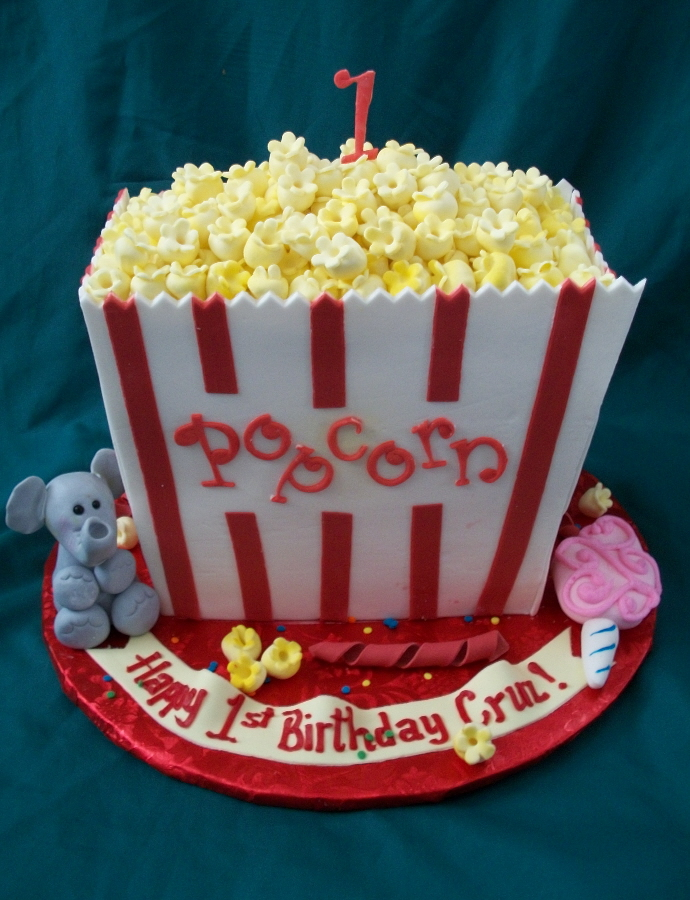 Terrific Popcorn Cakes Decoration Ideas Little Birthday Cakes Funny Birthday Cards Online Fluifree Goldxyz
