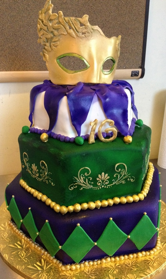 Stupendous Mardi Gras Cakes Decoration Ideas Little Birthday Cakes Funny Birthday Cards Online Alyptdamsfinfo