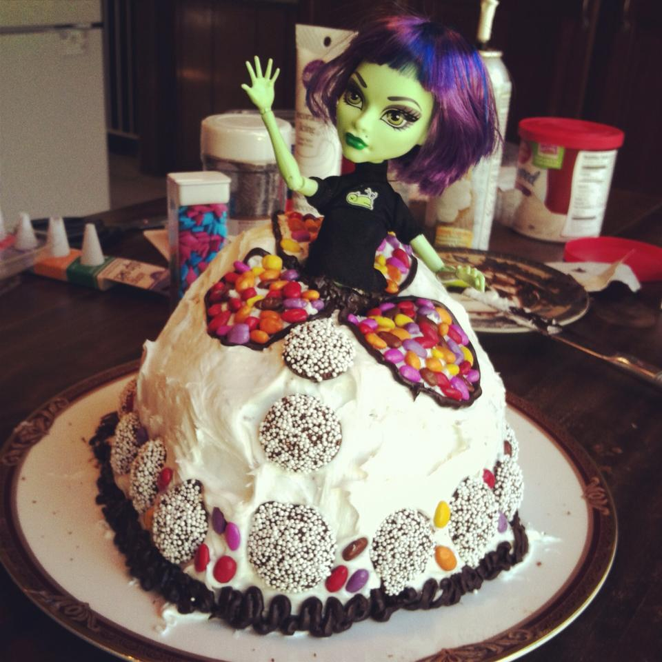 Outstanding Monster High Cakes Decoration Ideas Little Birthday Cakes Personalised Birthday Cards Sponlily Jamesorg