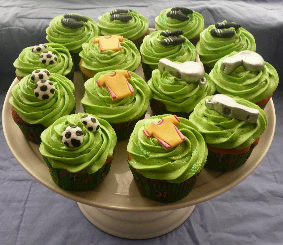 Cupcake Football Cake