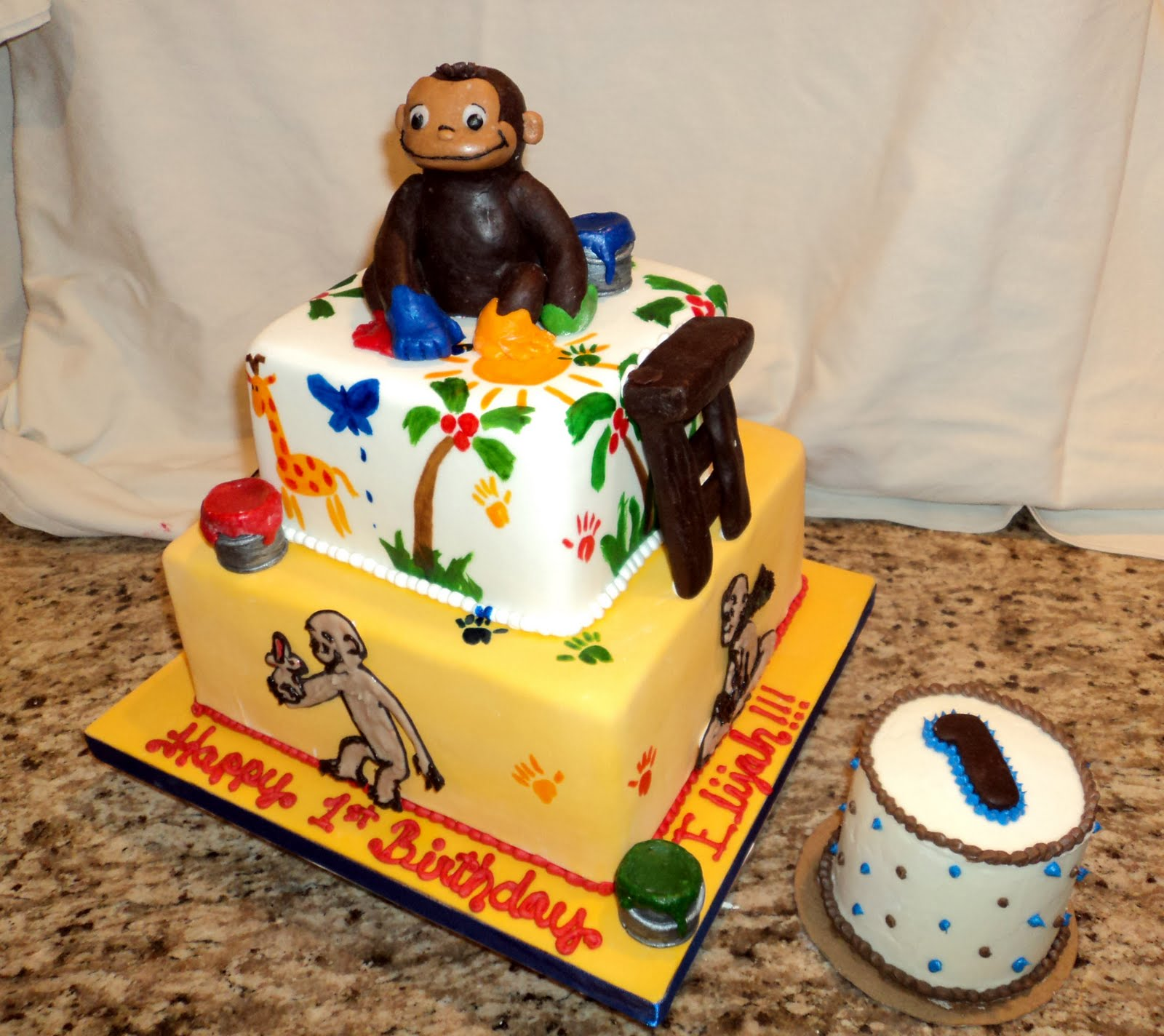 Excellent Curious George Cakes Decoration Ideas Little Birthday Cakes Personalised Birthday Cards Paralily Jamesorg