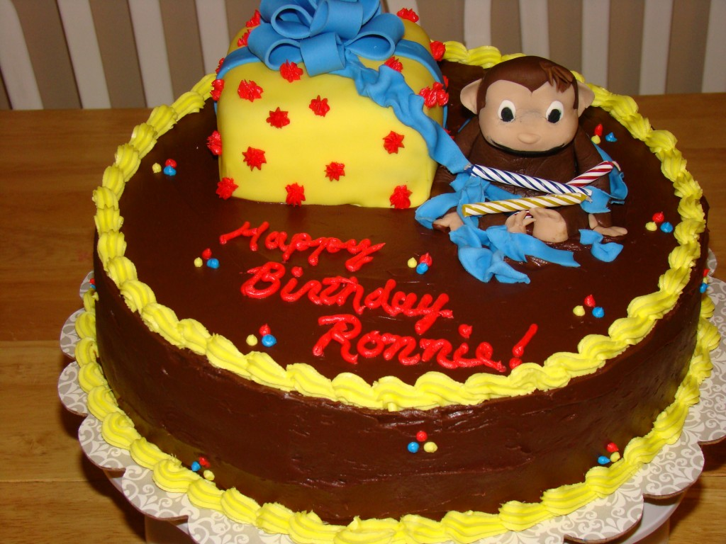 Curious George Edible Cake Image