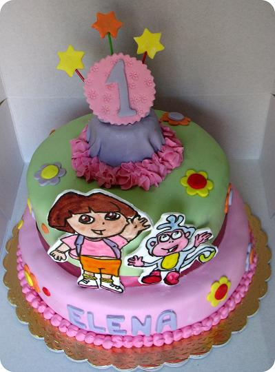 Awe Inspiring Dora Cakes Decoration Ideas Little Birthday Cakes Personalised Birthday Cards Paralily Jamesorg