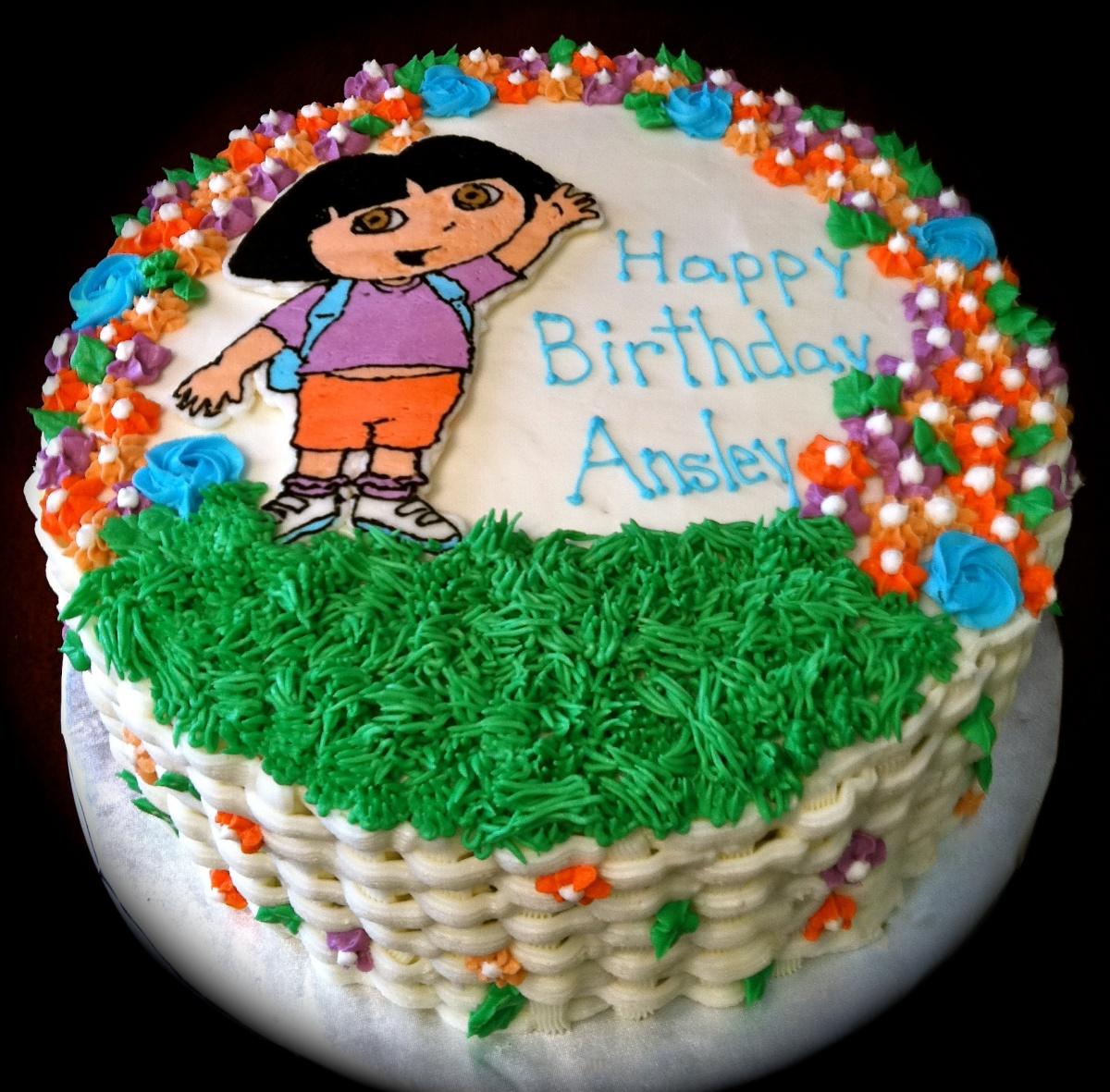 Strange Dora Cakes Decoration Ideas Little Birthday Cakes Birthday Cards Printable Benkemecafe Filternl