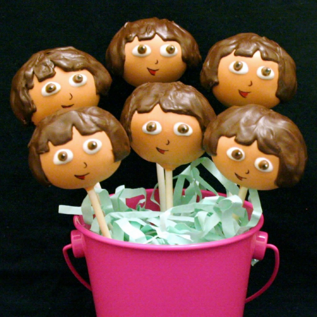 Dora Cake Pops