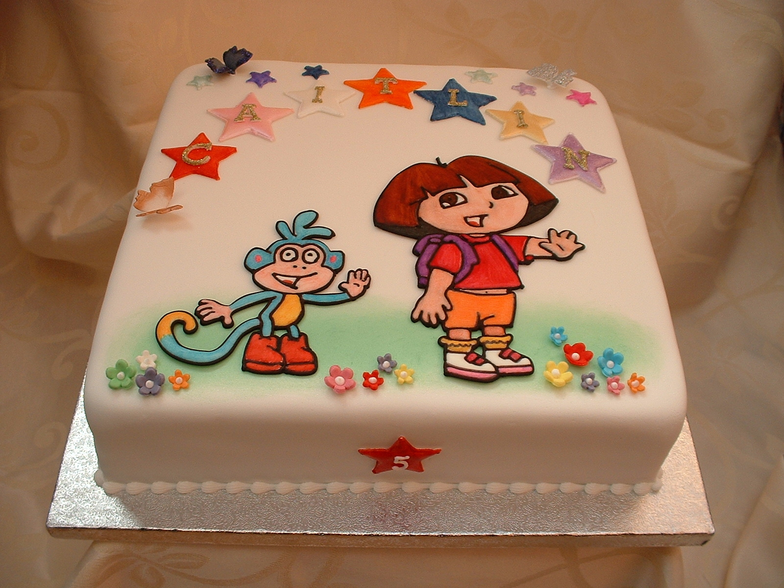 Awe Inspiring Dora Cakes Decoration Ideas Little Birthday Cakes Personalised Birthday Cards Veneteletsinfo