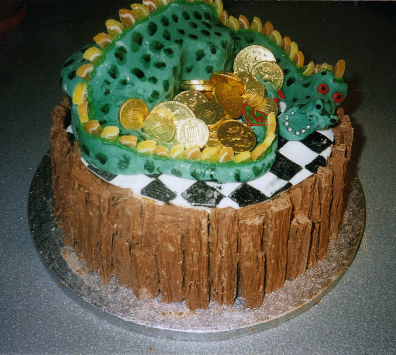 Fine Dragon Cakes Decoration Ideas Little Birthday Cakes Personalised Birthday Cards Veneteletsinfo