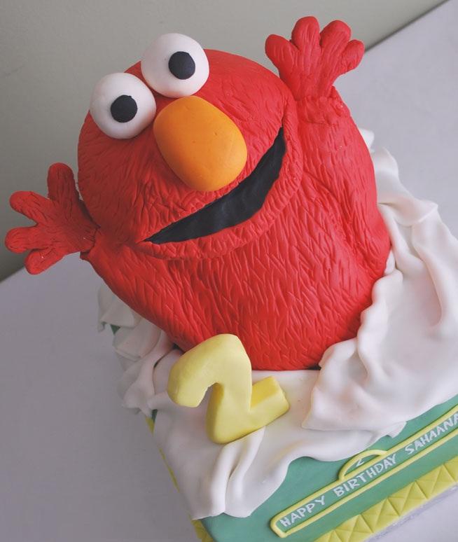 Elmo Cake Designs