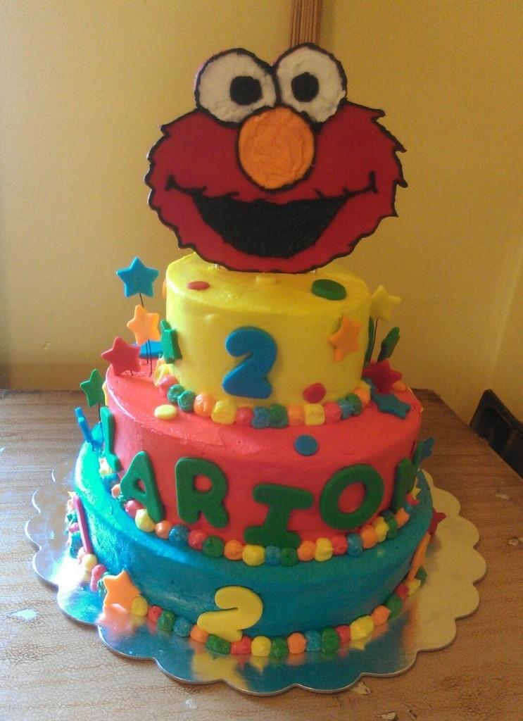 Elmo Cake Face