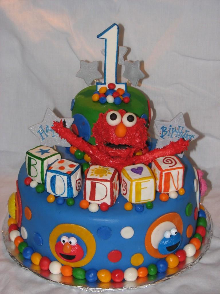 Elmo Sheet Cake