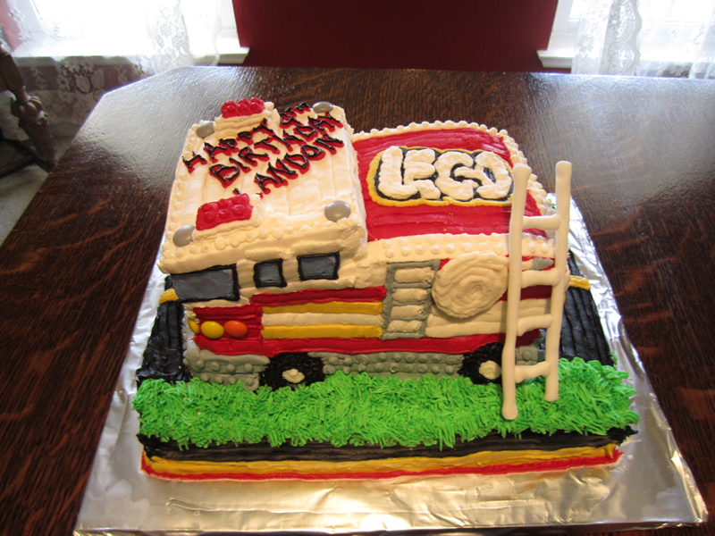 Fire Truck Birthday Cake Images