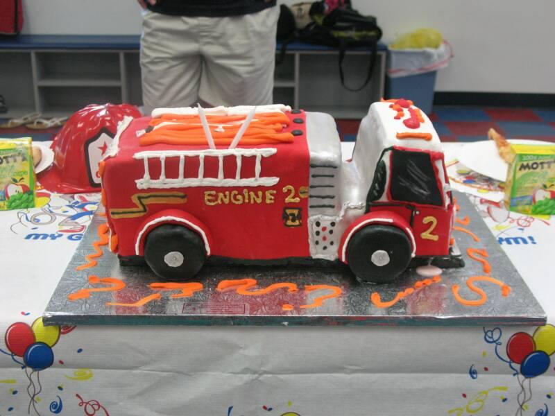 Fire Truck Cake Topper
