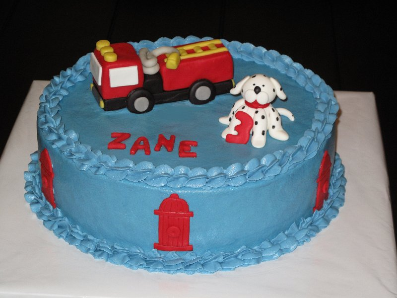 Fire Truck Cake Toppers