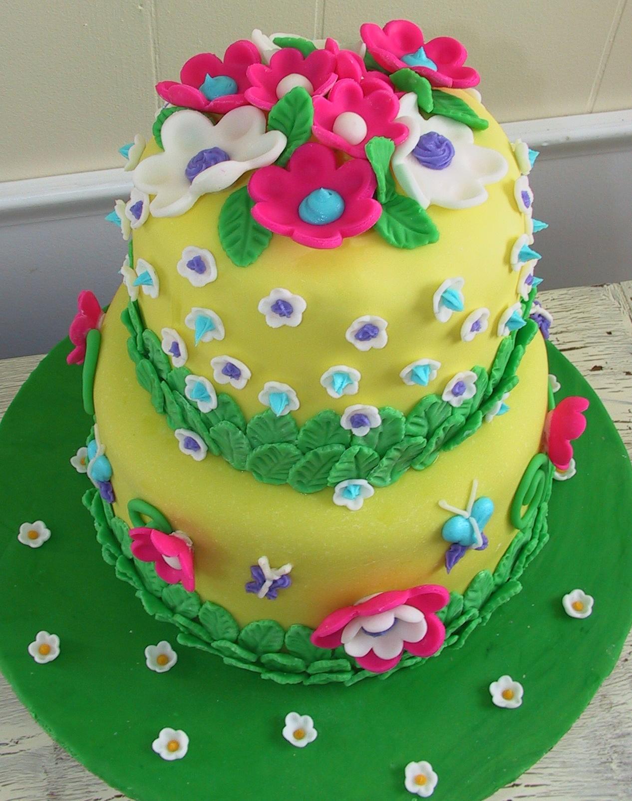 Miraculous Flower Cakes Decoration Ideas Little Birthday Cakes Personalised Birthday Cards Beptaeletsinfo
