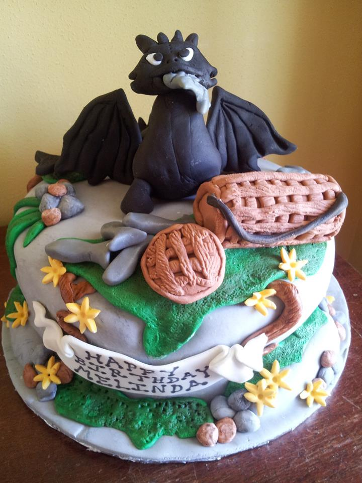 Flying Dragon Cake