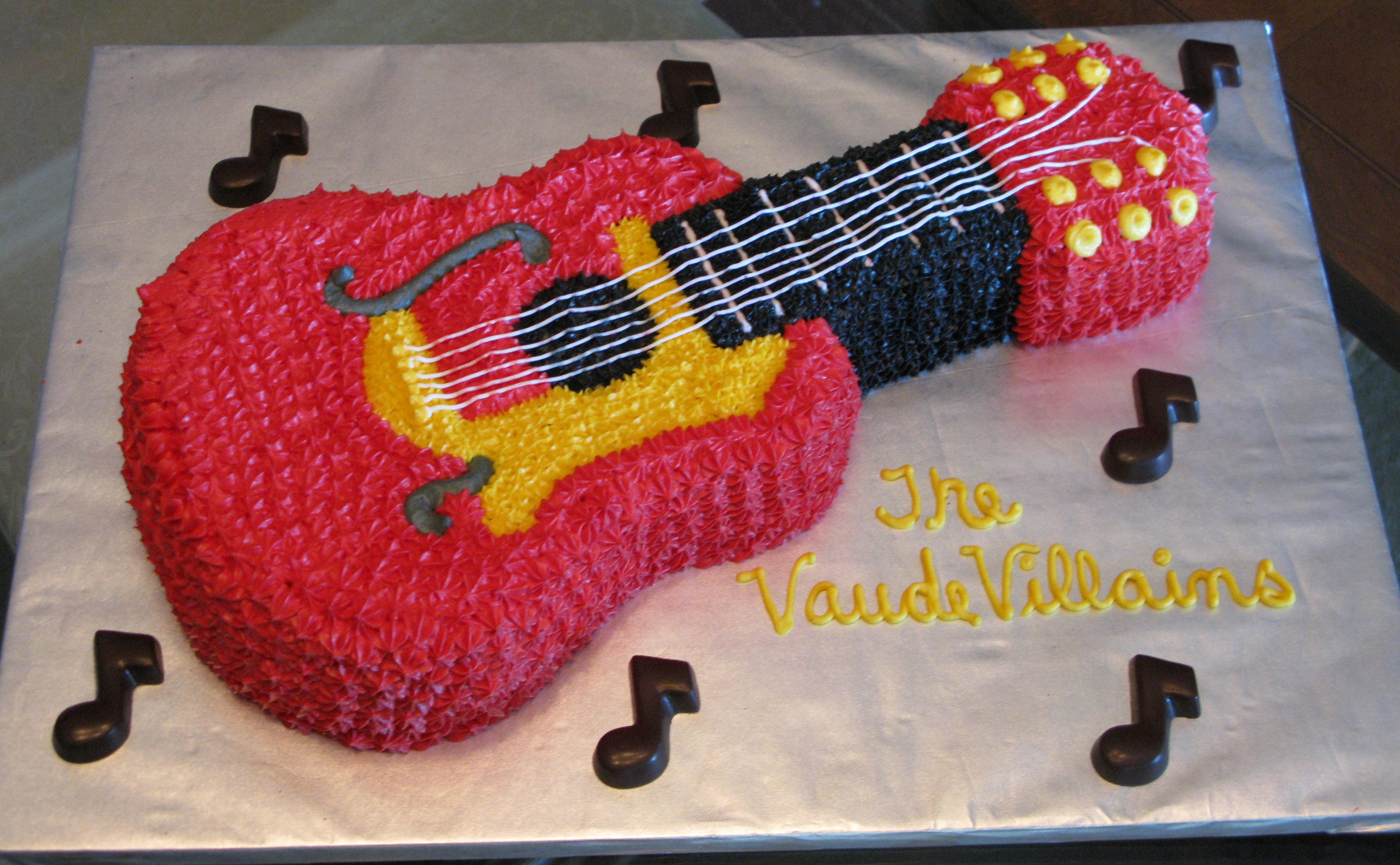 Incredible Guitar Cakes Decoration Ideas Little Birthday Cakes Funny Birthday Cards Online Elaedamsfinfo