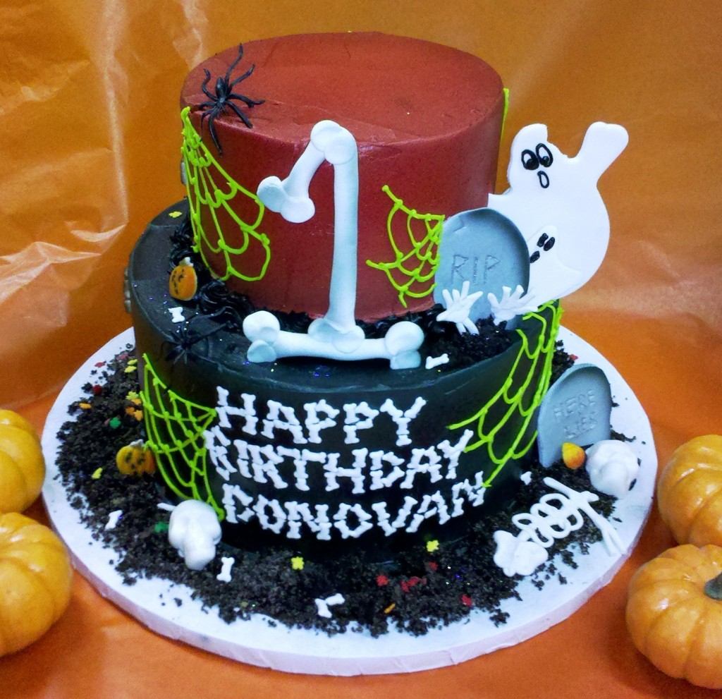 Halloween Birthday Cakes