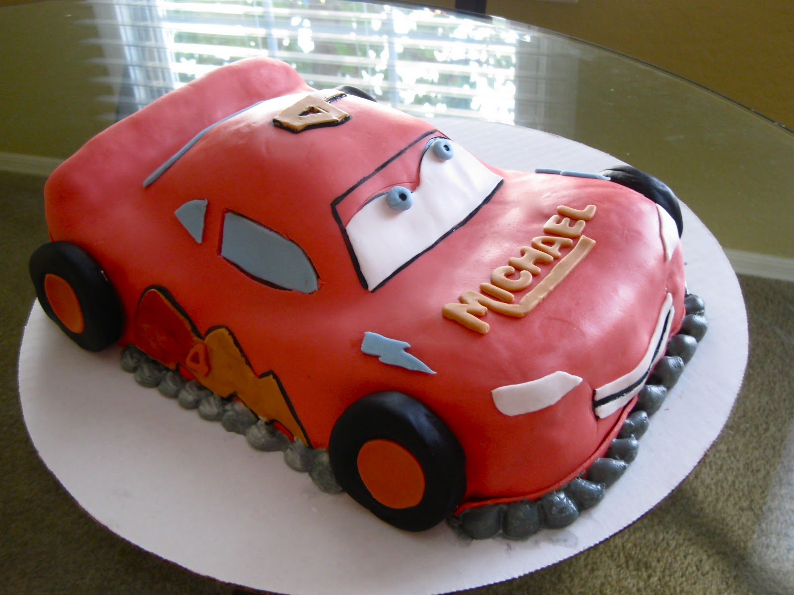 Peachy Lightning Mcqueen Cakes Decoration Ideas Little Birthday Cakes Personalised Birthday Cards Veneteletsinfo