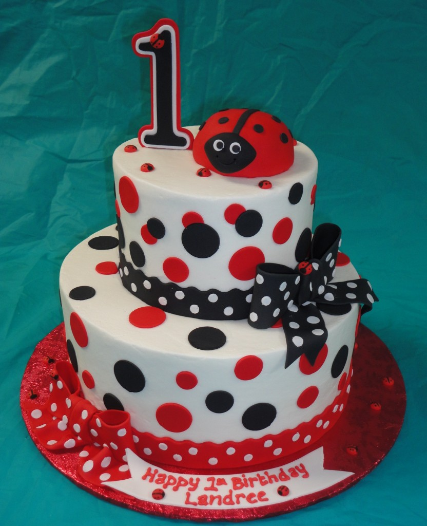 Ladybug Baby Shower Cakes