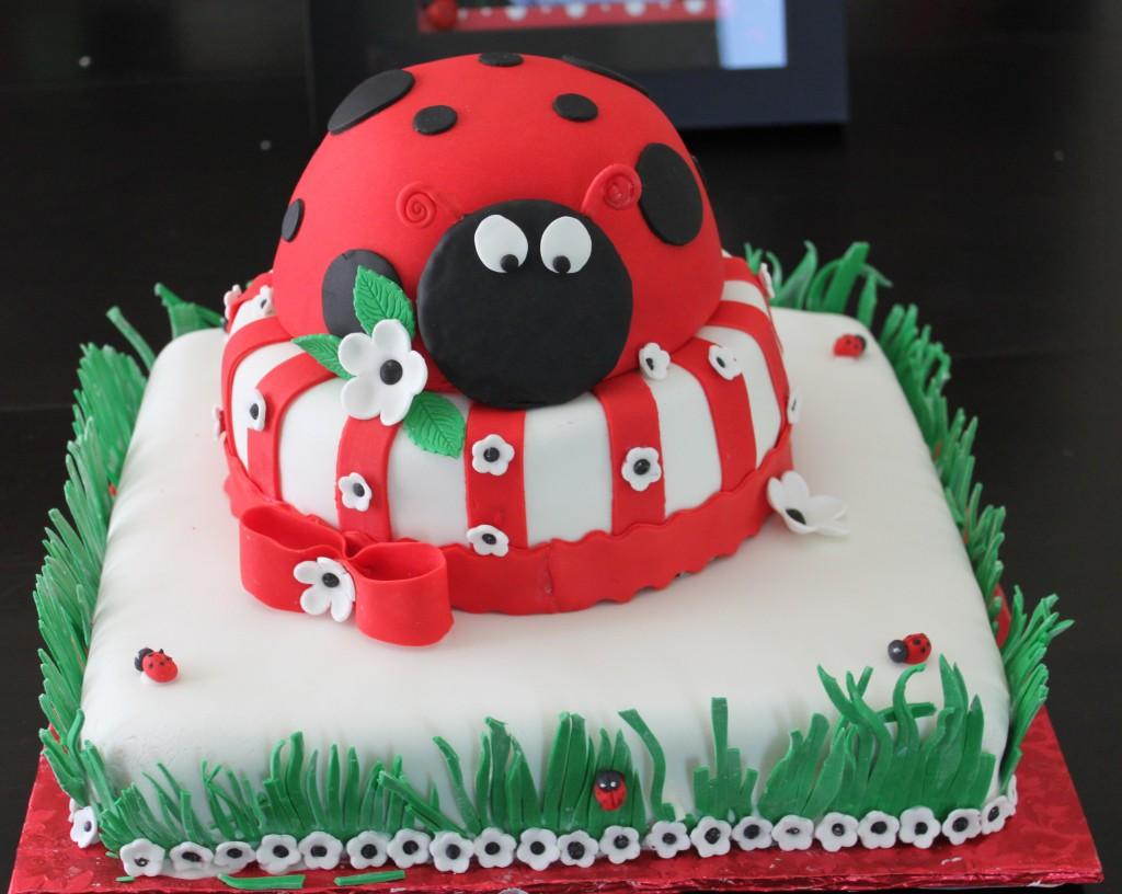 Ladybug Fondant Cake