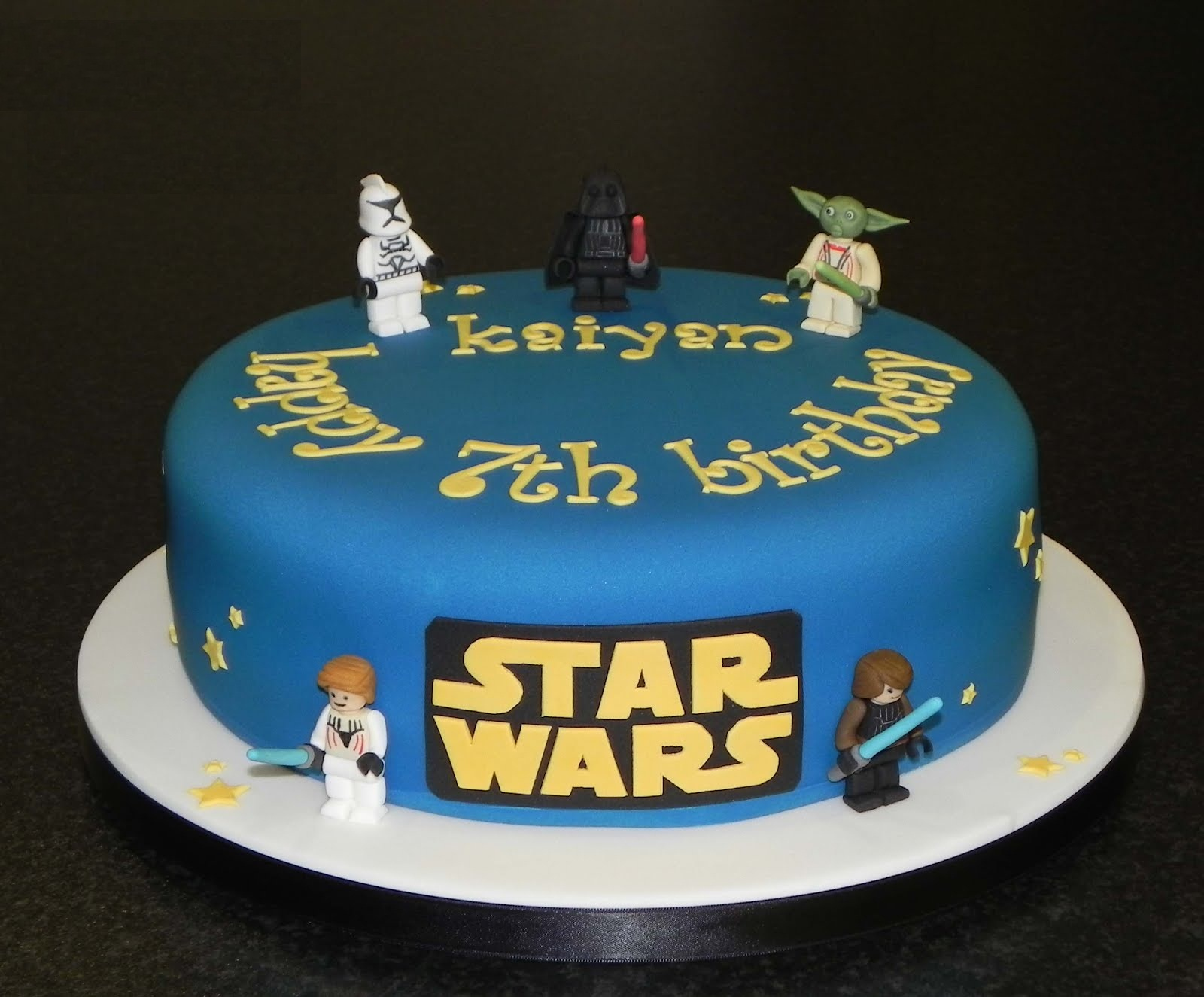 Awesome Star Wars Cakes Decoration Ideas Little Birthday Cakes Funny Birthday Cards Online Fluifree Goldxyz