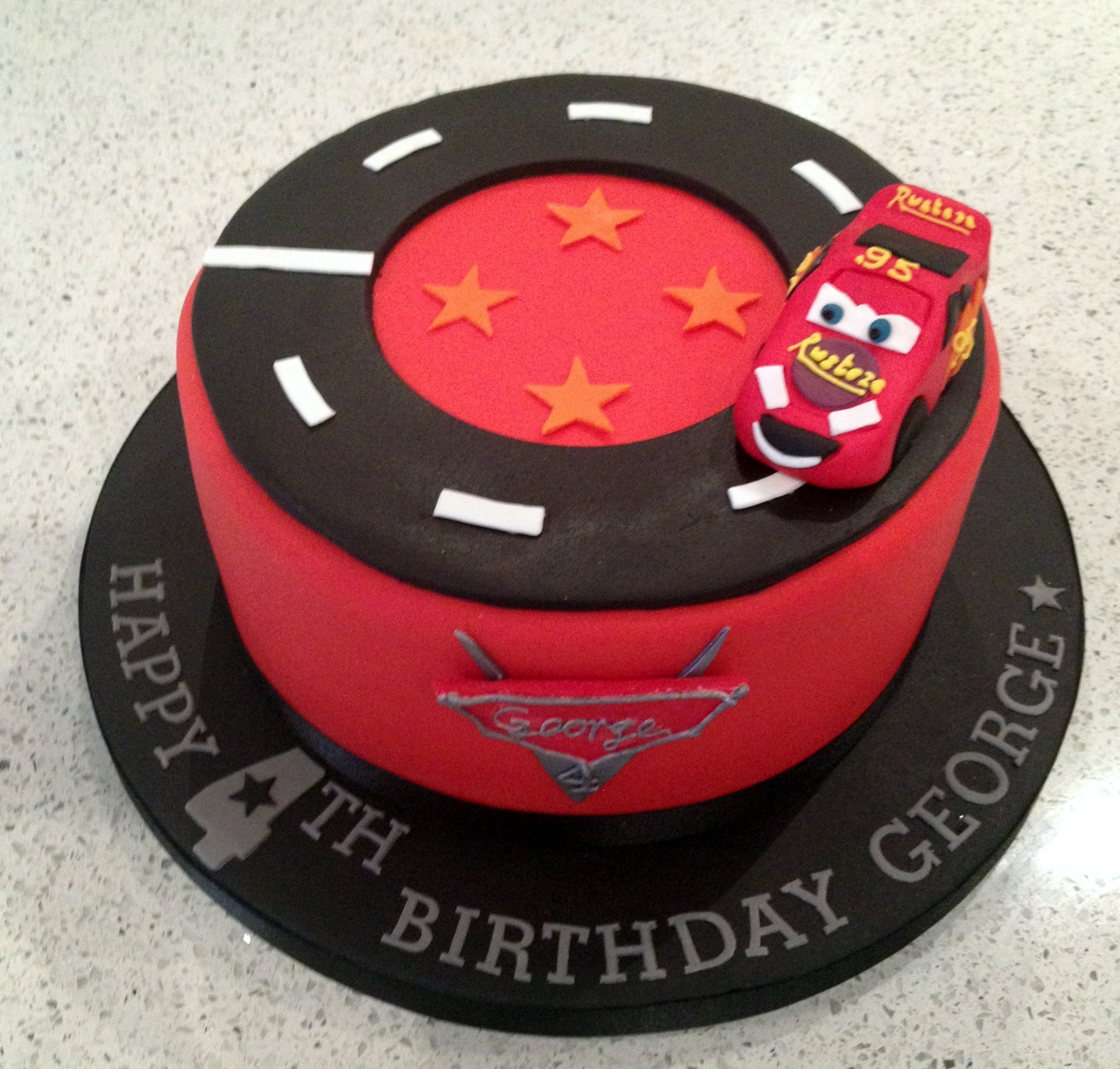 Lightning Mcqueen Birthday Cakes
