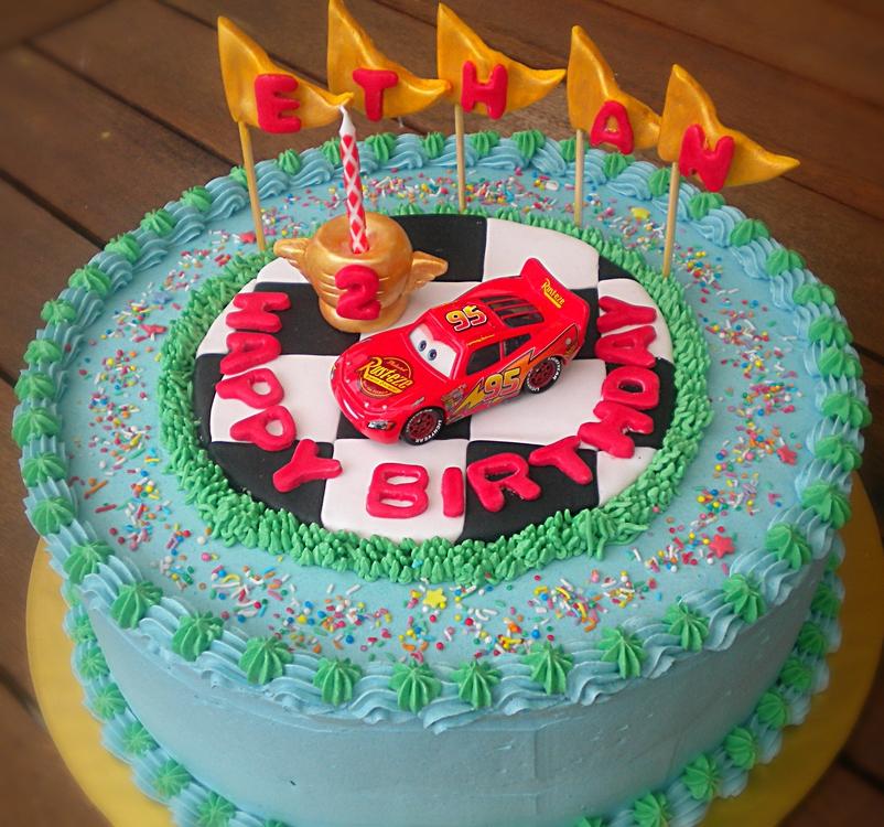Lightning Mcqueen Cake Topper