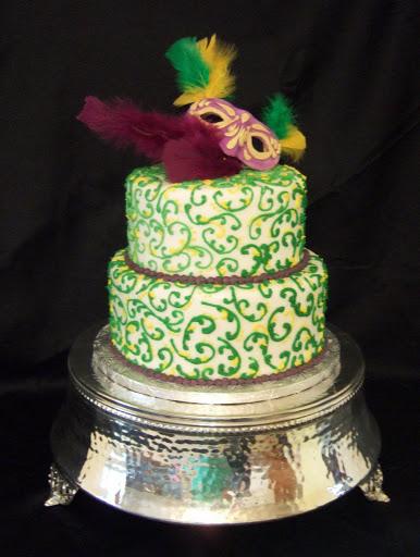 Mardi Gras Cake Baby
