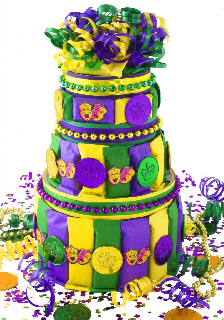 Mardi Gras Cake Design
