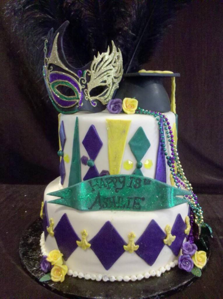 Mardi Gras Cakes Ideas