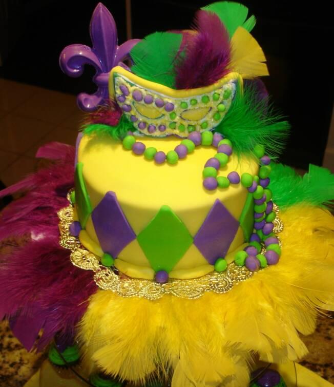 Mardi Gras Cakes Pictures