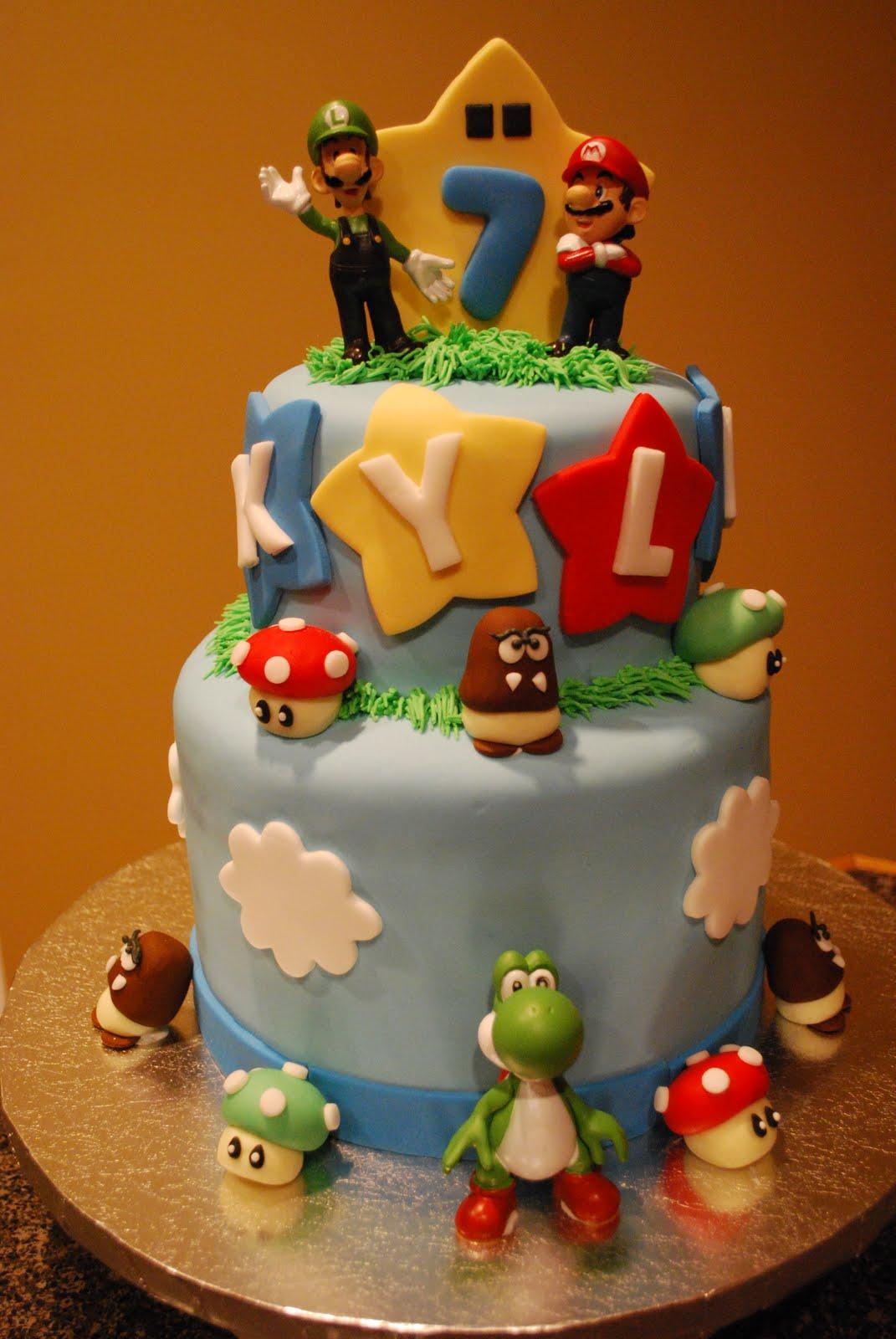 Excellent Mario Cakes Decoration Ideas Little Birthday Cakes Funny Birthday Cards Online Elaedamsfinfo