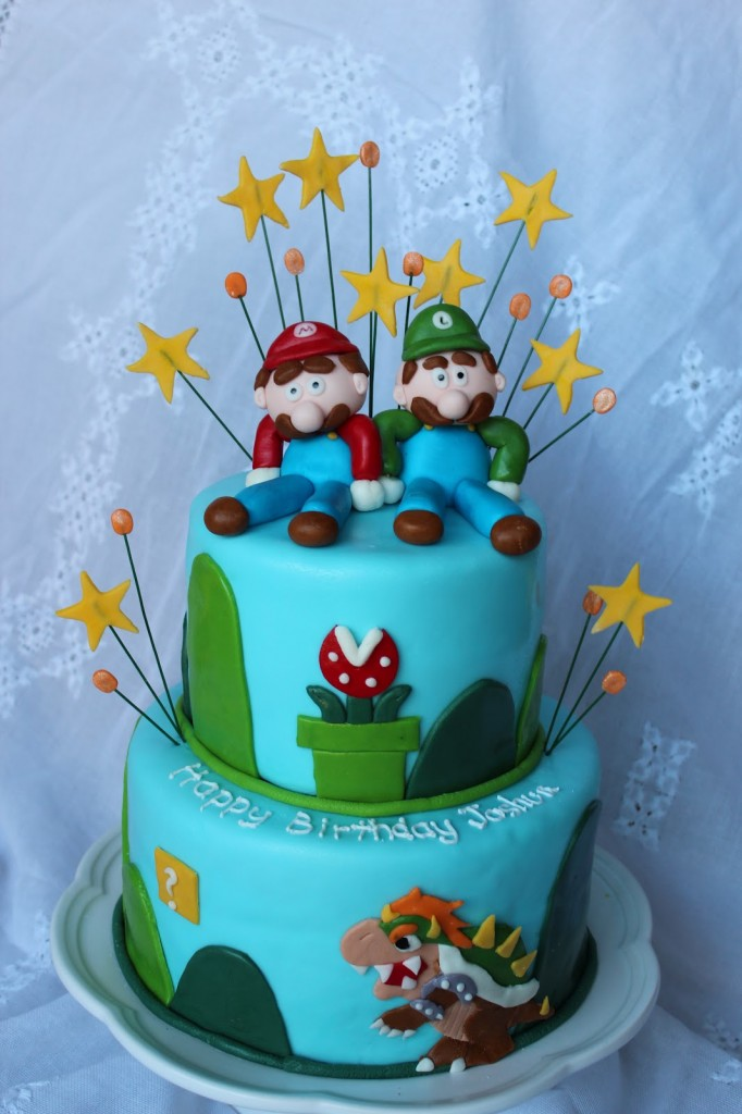 Mario and Luigi Birthday Cakes
