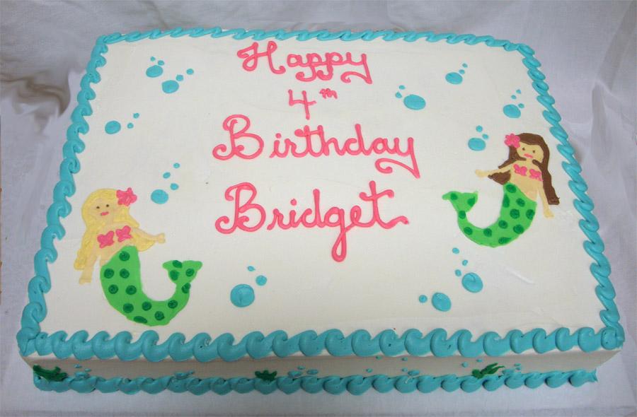 Mermaid Birthday Cakes