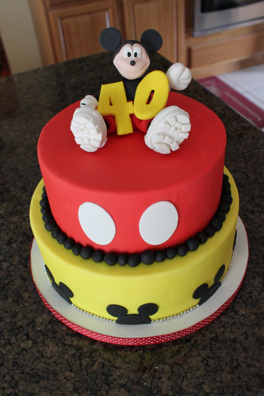 Groovy Mickey Mouse Cake Decoration Ideas Little Birthday Cakes Personalised Birthday Cards Bromeletsinfo